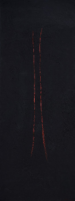 """""""Abstract 18"""", mixed media on canvas, 50x130cm."""
