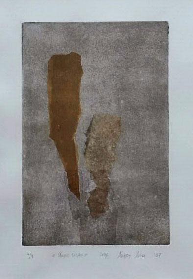 Etch 1, etching, plate: 20x30cm.