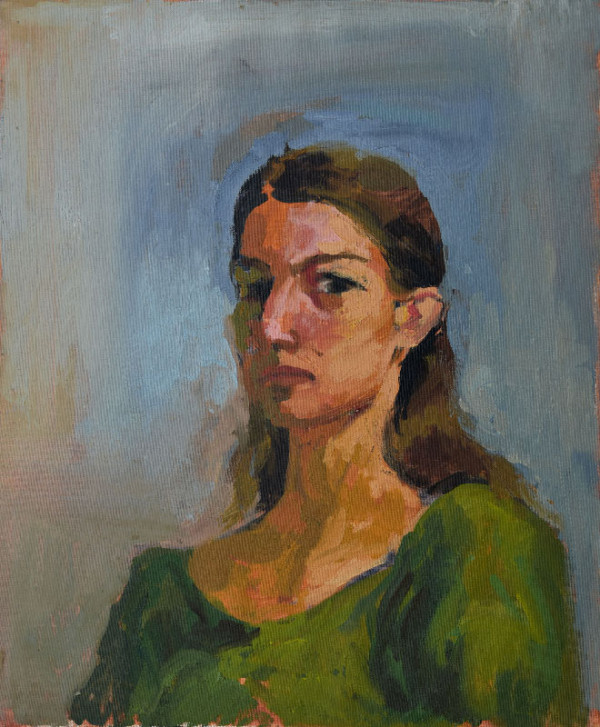 """""""Self-portrait"""", oil on canvas, 50x60cm."""