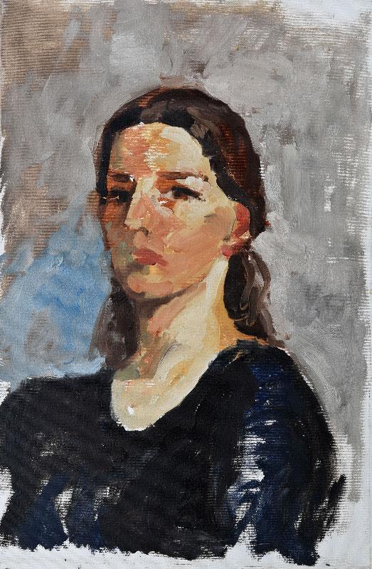 """""""Self-portrait"""", oil on canvas, 40x60cm."""