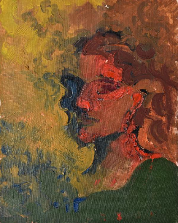 """""""Self-portrait"""", oil on canvas, 40x50cm."""