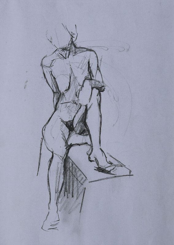 """Nude sketch"", pencil on paper, 21x30cm."