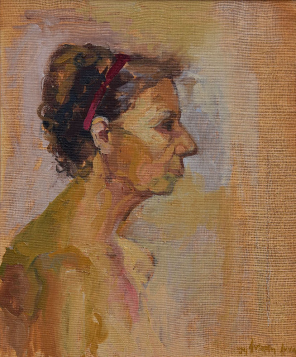 """""""Portrait of an old woman"""", oil on canvas, 50x60cm."""